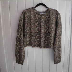 Zara Knit Knit Cropped Small